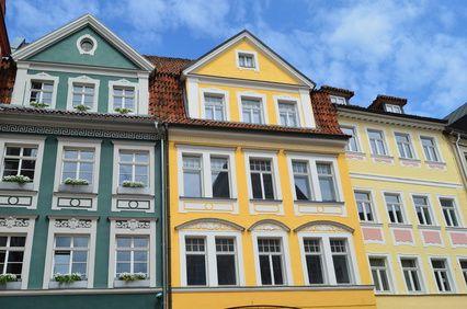 Häuserfront: Altstadt von Coburg